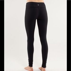 Lululemon Classic Black Leggings Reversible